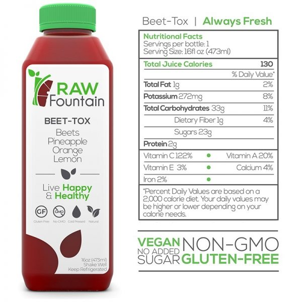 Beet Tox Raw Fountain Juice Cleanse