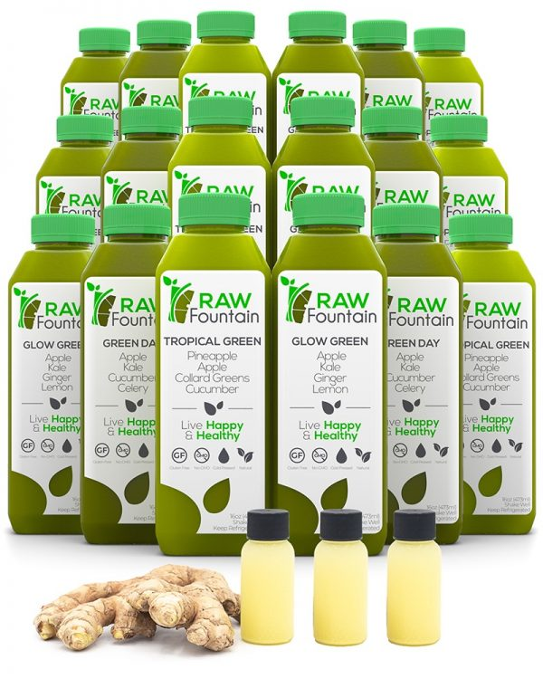Raw Fountain Cold Pressed 7 Day Juice Green Cleanse