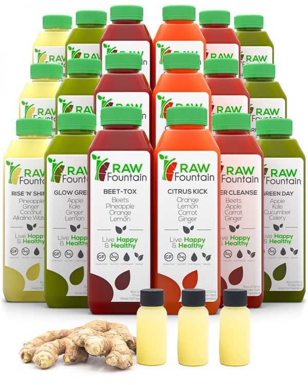 Raw Fountain Natural Cold Pressed Juice Cleanse