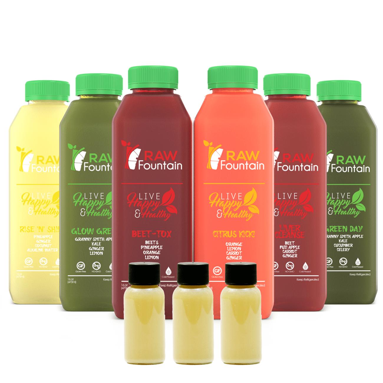 5 Day Juice Cleanse Detox 30 Bottles