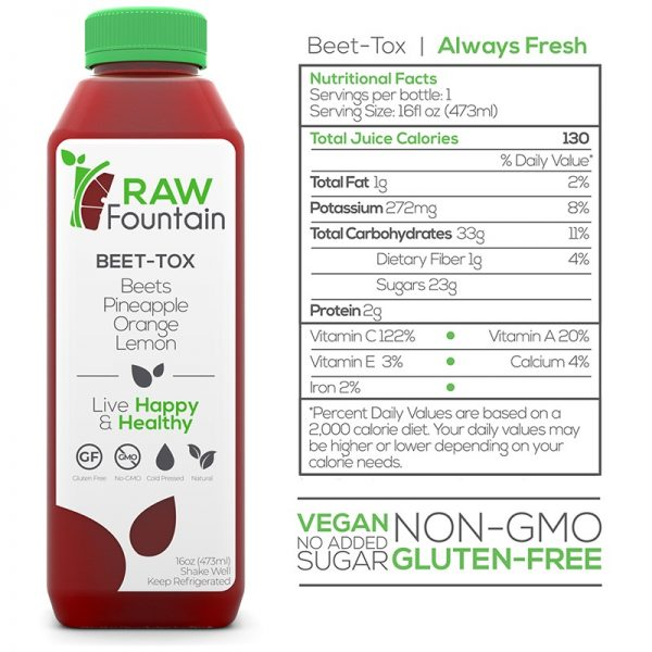 Raw Fountain Beet Tox 3 Day Juice Cleanse