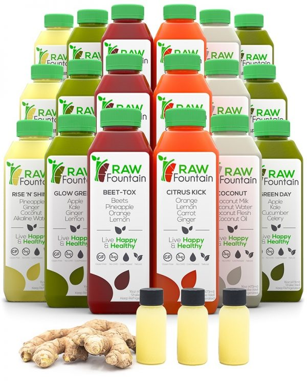 Raw Fountain Cold Pressed 3 Day Juice Cleanse