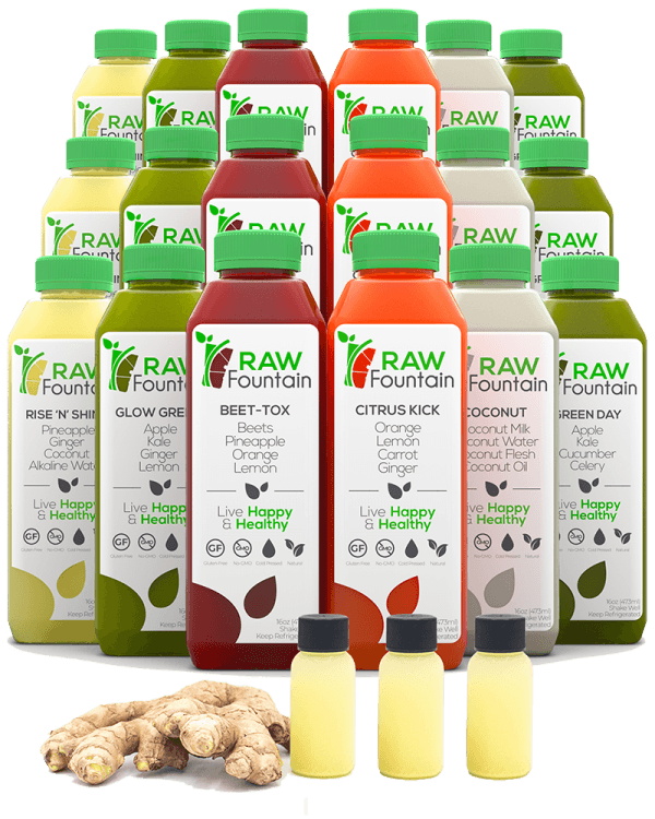 Raw Fountain Raw Cold Pressed 7 Day Juice Cleanse