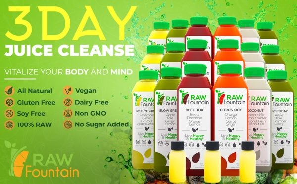 Raw Fountain All Natural Detox 3 Day Juice Cleanse