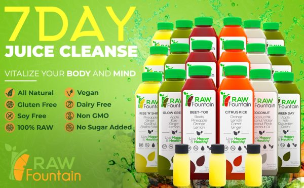 Raw Fountain Natural 7 Day Juice Cleanse Coconut
