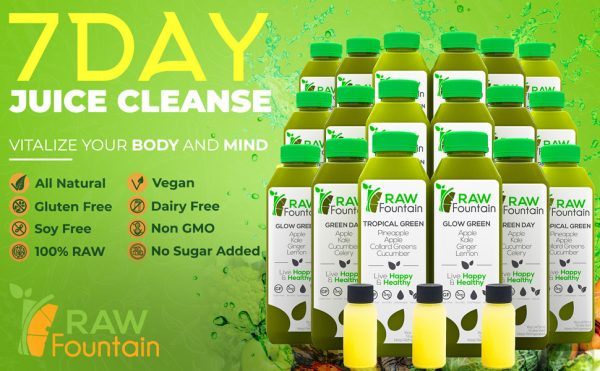 Raw Fountain Cold Pressed 7 Day Juice Cleanse