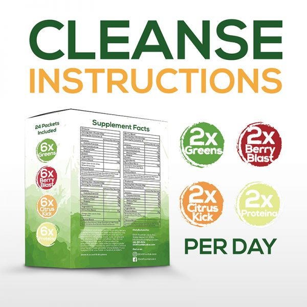 Raw Fountain Juice Cleanse Instruction